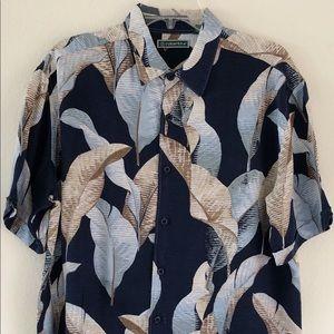 4b6580b87 Cubavera Hawaiian Blue Shirt Size Large